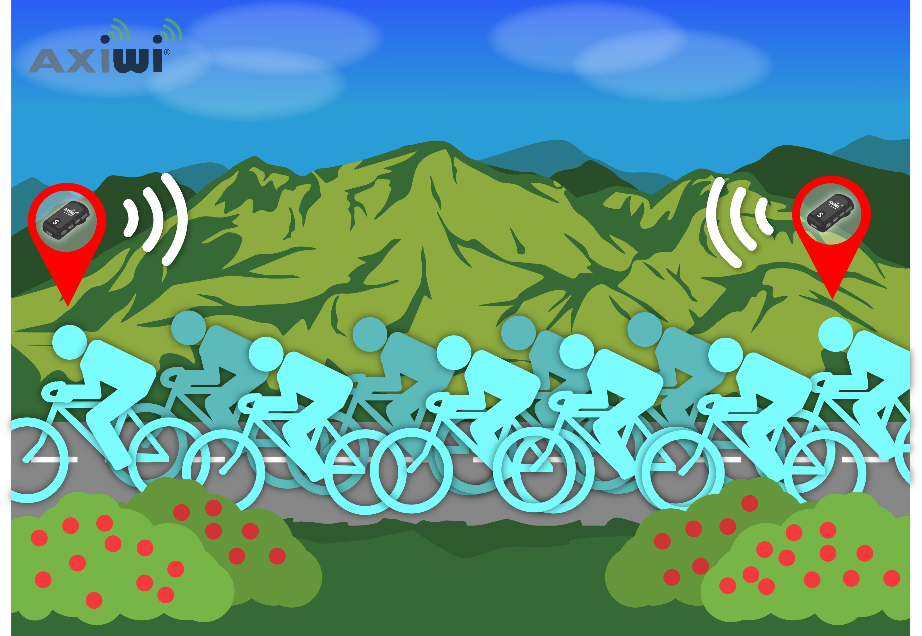 /wireless-communication-system-cycling-group-animation-axiwi