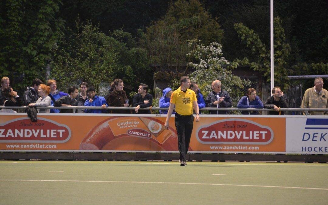 Field hockey umpires and accessors using AXIWI during Royal Dutch Hockey Federation seminar