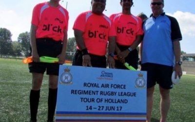 Rugby referees using AXIWI during Royal Air Force Regiment Rugby League Tour of Holland
