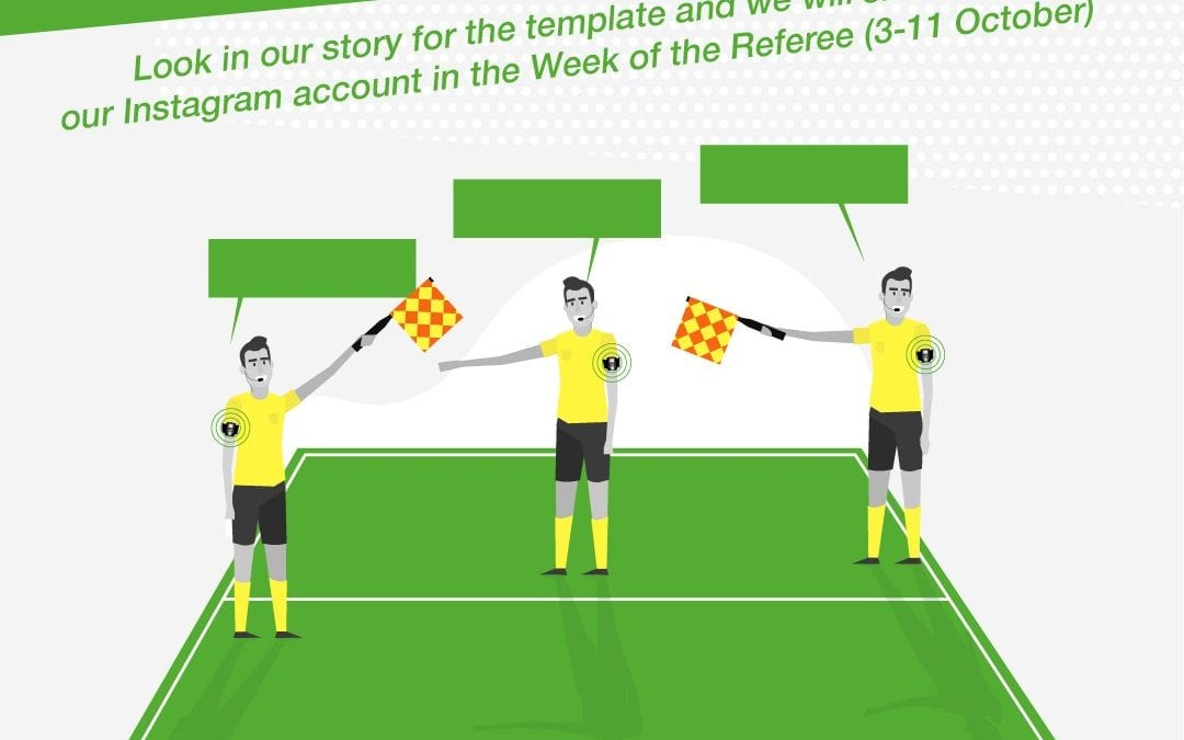 Make your Referee Dreamteam and we will show it on the AXIWI Instagram account in the Week of the Referee